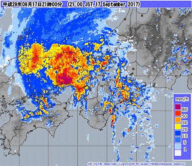 気象レーダー 201709172100-00