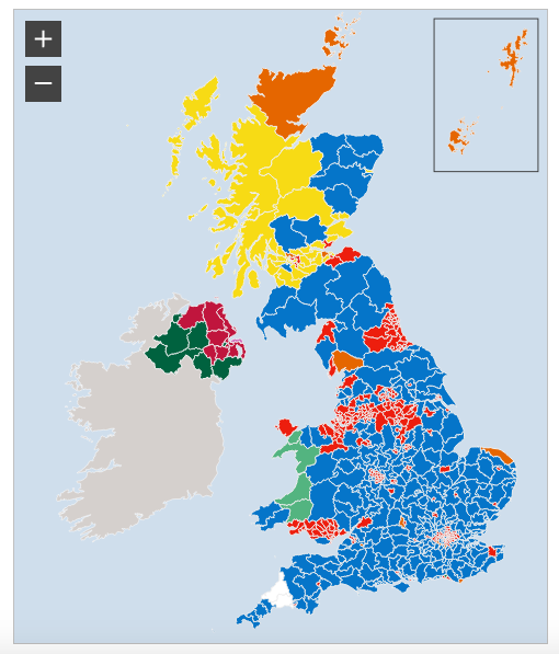 General Election 2017 Politically devided UK by BBC
