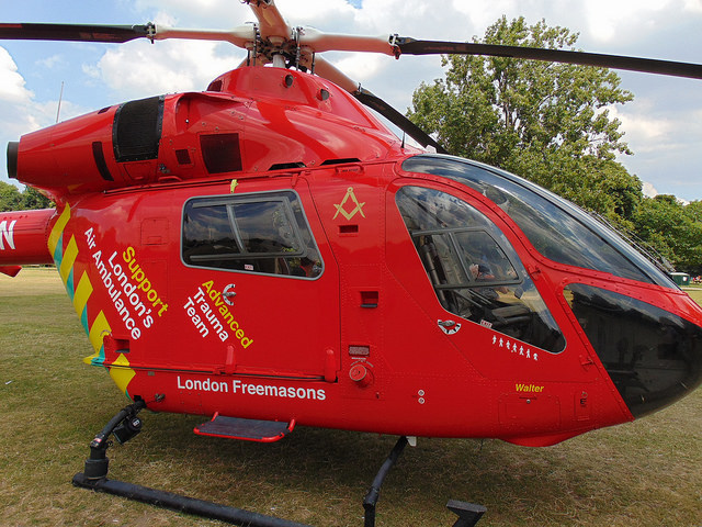 Red Helicopter of London's Air Ambulance