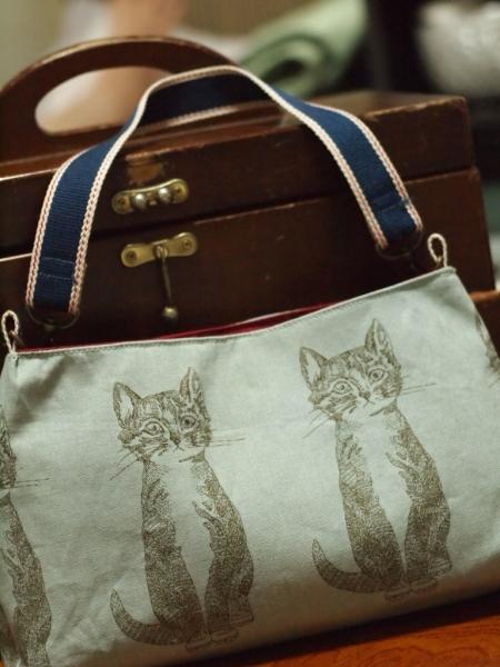 猫柄 ワンショルダーバッグ