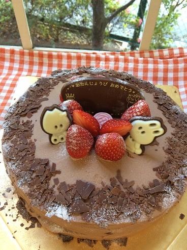 チョコレートケーキおたんじょうび