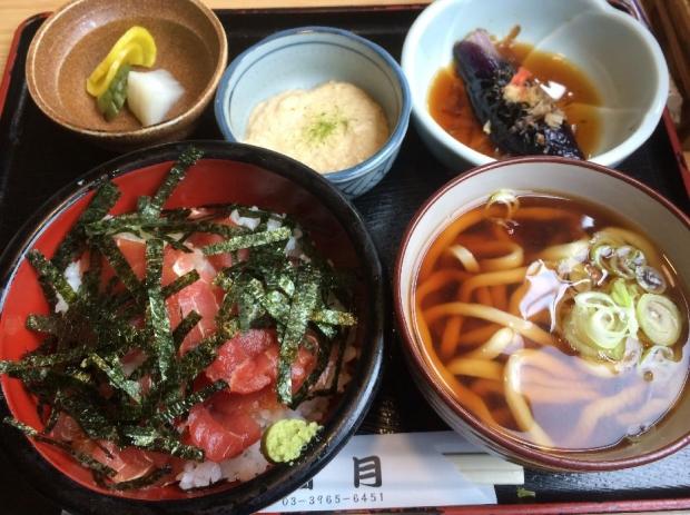 マグロ丼セット@満月 (2)