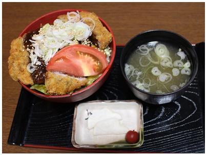 能登豚味噌カツ丼1