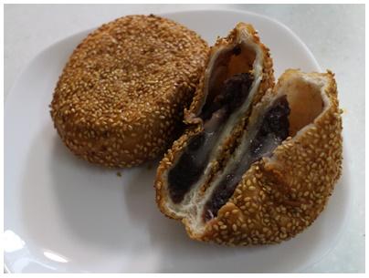 ゴマ餅あんパン