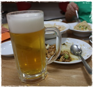 ビール二杯目