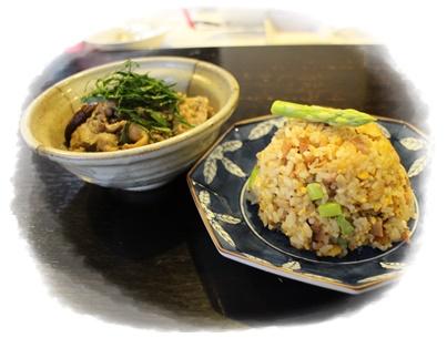 アスパラ炒飯2