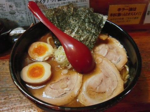 竹屋本店・全部増し・醤油・太麺