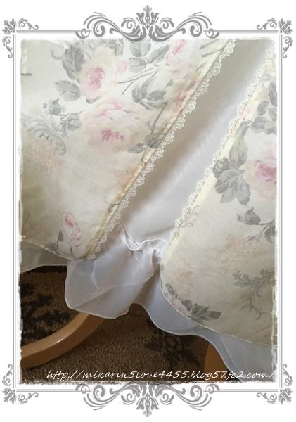 0606ぼかし花柄マキシワンピース(生成り)裾