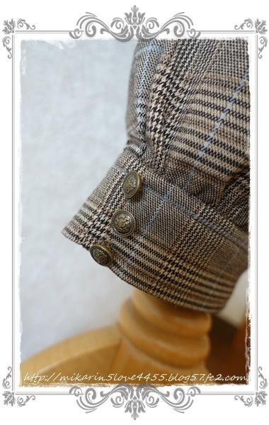 0826サス付きハーフテーパード(茶)裾アップ