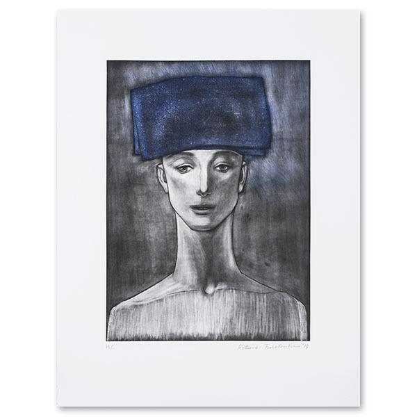 舟越桂 青い頭巾