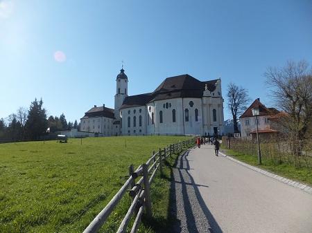 Wieskirche=草原の教会という意味
