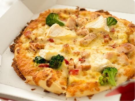 糖質を抑えたピザシリーズ ピザハット ライザップコラボ とろけるカマンベールと絶品スモークチキン