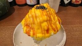 上通の上乃裏惣菜コルリのパンプキンキャラメルかき氷♪