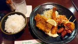 熊本市中央区下通のファミリーばんざい健康食堂で定食!