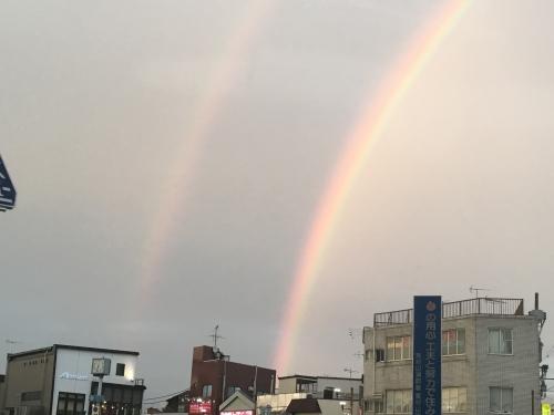 二重に見える虹