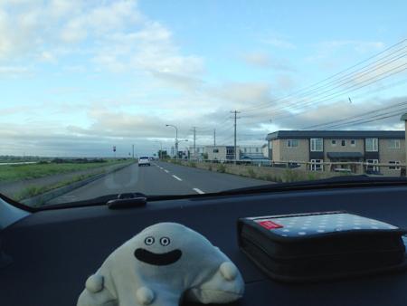 釧路川とホテル愛
