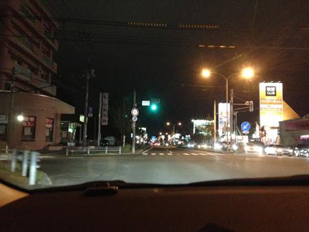 夜の釧路市内