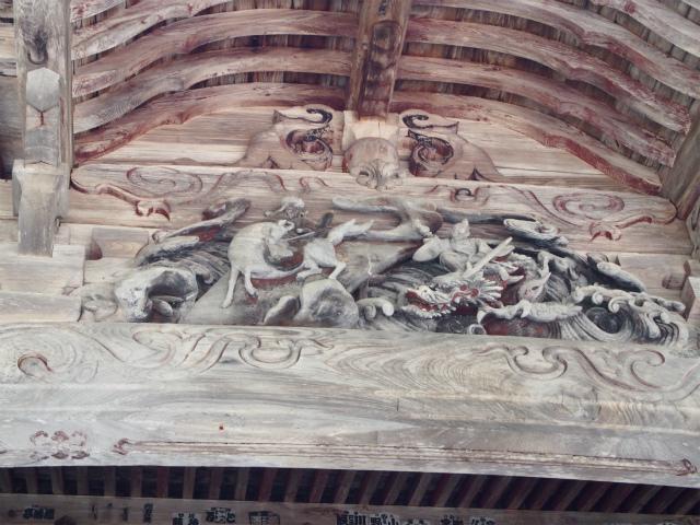 観音堂彫刻東面