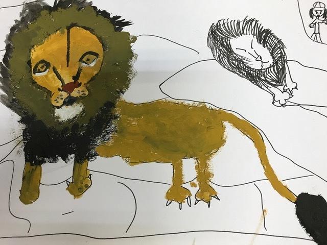 絵ライオン