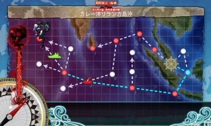 艦これ 2017年夏イベント E-2 MAP (2017年8月12日)