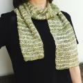 雁皮スラブ結城のアフガン編みのショール