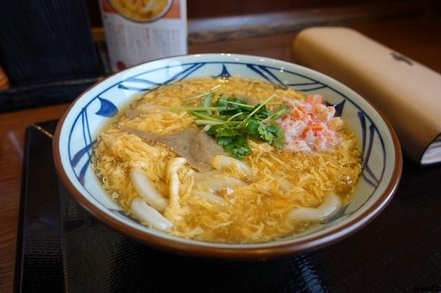 20180105 丸亀製麺 (1)カニ玉あんかけ
