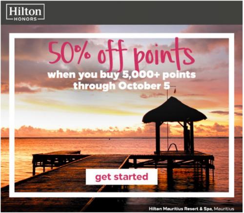Hilton 50off Points