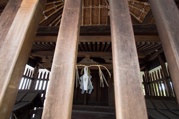 岩塚八幡社本殿中身