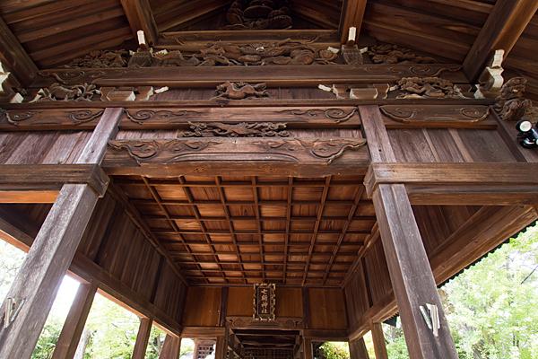 伏屋七所社拝殿の彫り物