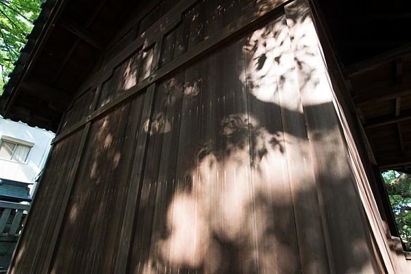 篠原八幡社拝殿の光と影