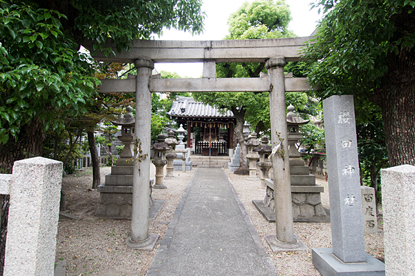 櫻田神社入り口前