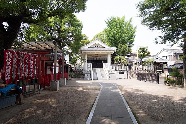 冨士八幡社境内の風景
