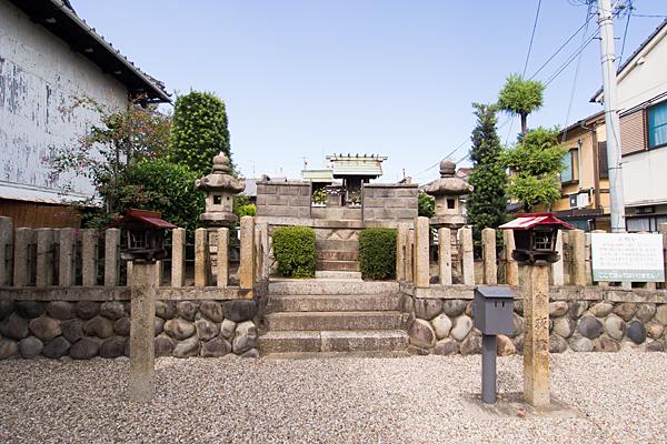 大喜町秋葉社境内の風景
