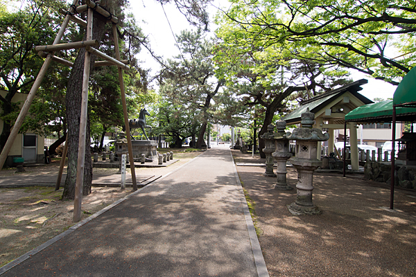 城屋敷神明社境内の風景