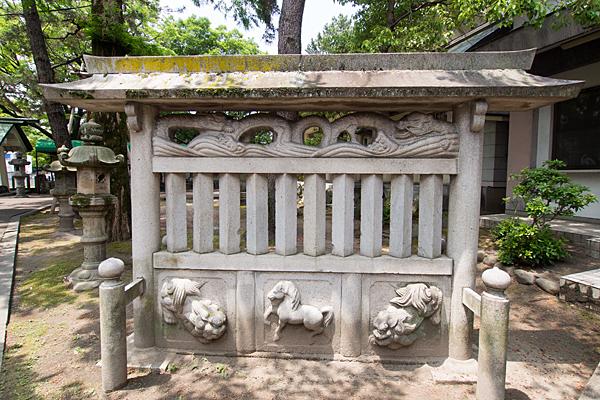 城屋敷神明社蕃塀