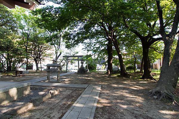 小塚町若宮八幡社境内の風景