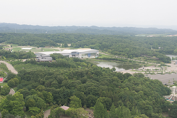 モリコロ観覧車からの風景
