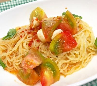 トマトの冷製パスタ2