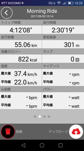 2017/09/03の走行記録