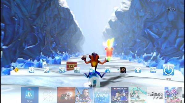 PS4 PSプラス テーマ クラッシュバンディクー