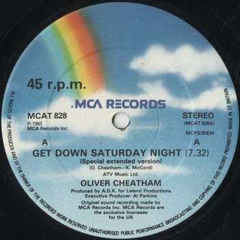 DG_OLIVER CHEATHAM_GET DOWN SATURDAY NIGHT_201705