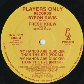 HH_BYRON DAVIS_MY HANDS ARE QUICKER THAN THE EYE_201706
