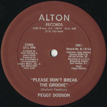 DG_PEGGY DODSON_PLEASE DONT BREAK THE GROOVE_201710