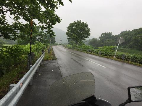 雨のツーリング