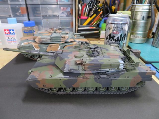 M1A1 タミヤ 35 完成 の1