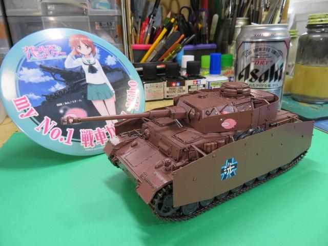 ガルパン Ⅳ号戦車D型改 H型仕様 プラッツGP-4 完成