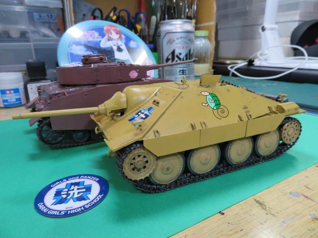 ガルパン 38(t)戦車改(ヘッツァー仕様) プラッツ GP-8 完成