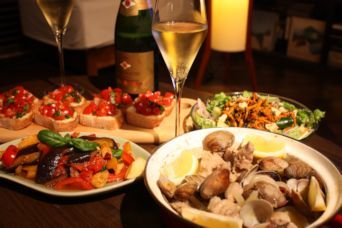 ポルトガル風豚とアサリのワイン蒸し献立