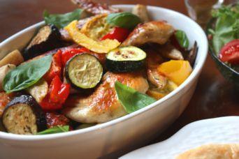 手羽先と夏野菜のグリル