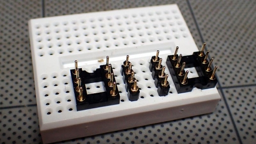 DIPシングルオペアンプ→DIPデュアルオペアンプ 変換基板の組み立て (3)